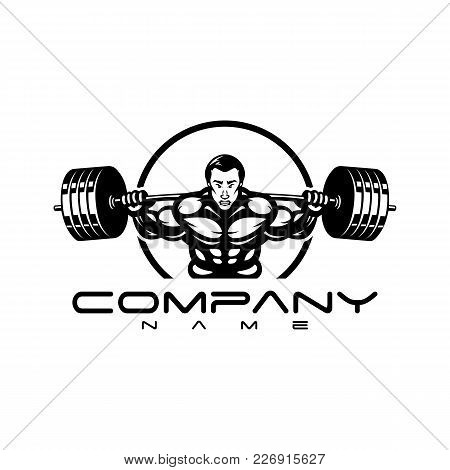 Bodybuilder Logo Template. Vector Object And Icons For Sport Label, Gym Badge, Fitness Logo Design,