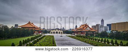 Taipei, Taiwan - November 14, 2017: Chiang Kai-shek Memorial Hall On 14 November 2017 In Taipei, Tai