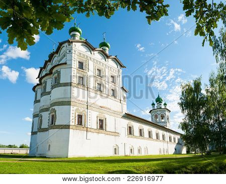 Veliky Novgorod, Russia. Nicholas Vyazhischsky Stauropegic Monastery Near Veliky Novgorod, Russia, P