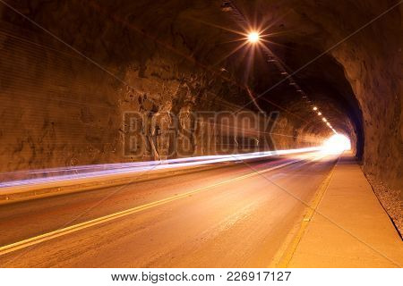 Traffic On A Tunnel In Northern Chile