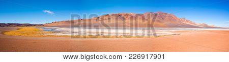 Salar De Aguas Calientes (aguas Calientes Salt Lake) In The Altiplano (high Andean Plateau) At An Al