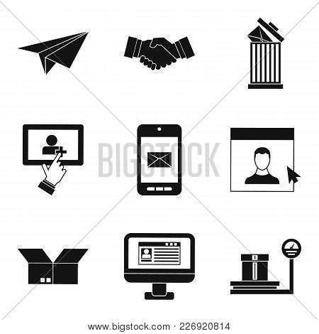 Mailing Icons Set. Simple Set Of 9 Mailing Vector Icons For Web Isolated On White Background