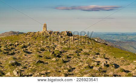 Stones And A Cloud On The Summit Of Garnedd Ugain, Gwynedd, Wales, Uk
