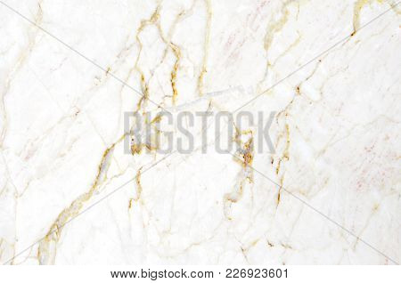 Marble Texture On White Marbled Tile Surface, Closeup Photo On Surface Of White Marbled Tile On Marb