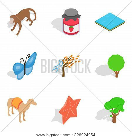 Preserve Icons Set. Isometric Set Of 9 Preserve Vector Icons For Web Isolated On White Background