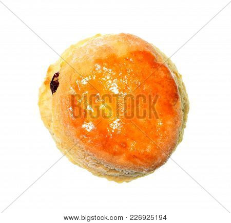 Isolate Raisin Cheese Scone In A Top View