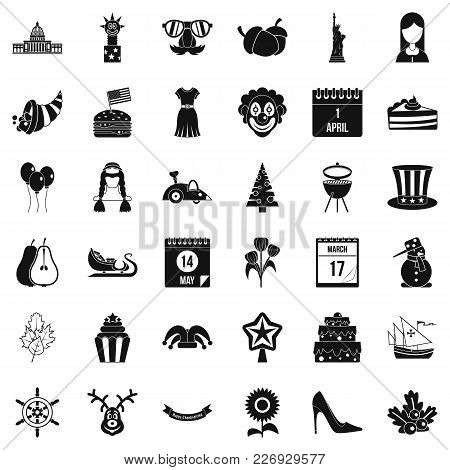 Folklore Festival Icons Set. Simple Set Of 36 Folklore Festival Vector Icons For Web Isolated On Whi