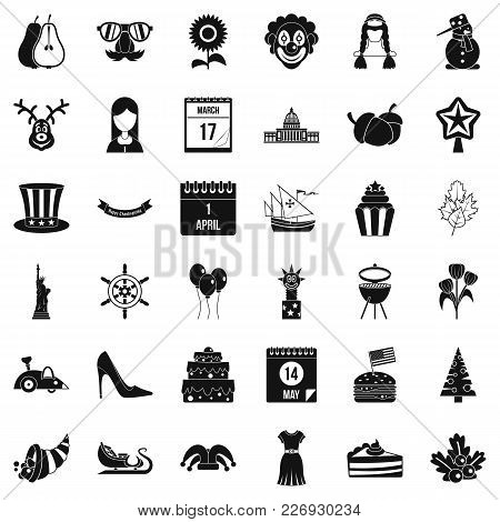 Folklore Icons Set. Simple Set Of 36 Folklore Vector Icons For Web Isolated On White Background
