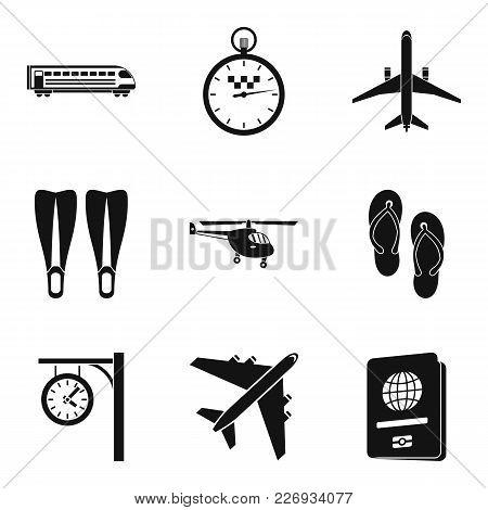 Municipal Transport Icons Set. Simple Set Of 9 Municipal Transport Vector Icons For Web Isolated On