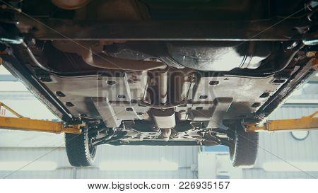 Car Service - Bottom Of The Car - The Suspension Of Suv, Slider Shot