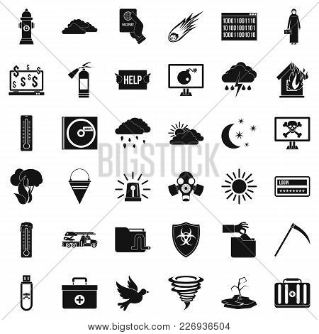 Involuntary Icons Set. Simple Set Of 36 Involuntary Vector Icons For Web Isolated On White Backgroun