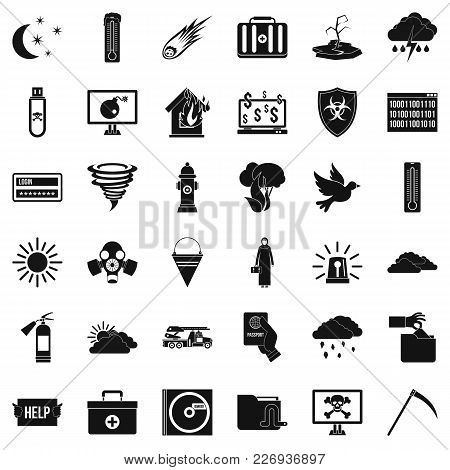 Origin Icons Set. Simple Set Of 36 Origin Vector Icons For Web Isolated On White Background