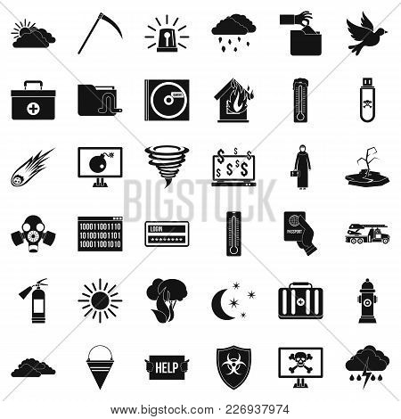 Back Country Icons Set. Simple Set Of 36 Back Country Vector Icons For Web Isolated On White Backgro