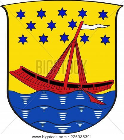 Coat Of Arms Of Beuel Is A Municipal District Of Bonn In North Rhine-westphalia In Germany. Vector I