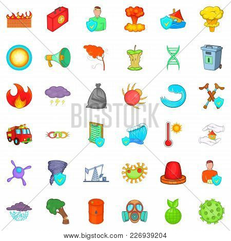 Remote Icons Set. Cartoon Set Of 36 Remote Vector Icons For Web Isolated On White Background