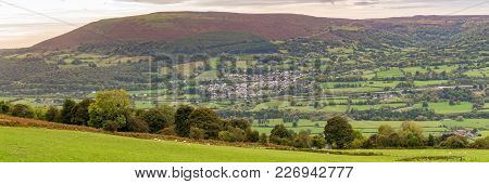 View Over Gilwern And Gilwern Hill On The Edge Of The Brecon Beacons National Park Near Abergavenney