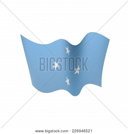 Federated States Micronesia Flag, Vector Illustration On A White Background
