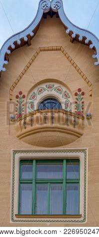 Oradea, Romania - January 27, 2018: Facade Of Stern Palace, Historical Building In Oradea, Romania.