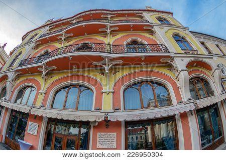 Oradea,romania-january 27,2018:hotel Astoria (former Sztarill Palace) Located In Ferdinand Square.in