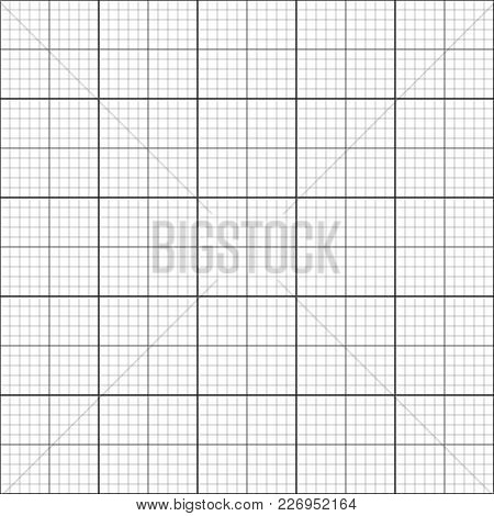 Seamless Coordinate Grid Background For Getting Graphics, Blueprint Or Graph Infographics Template,