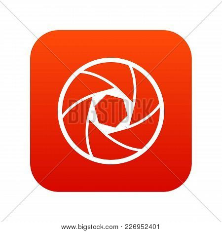 Professional Objective Icon Digital Red For Any Design Isolated On White Vector Illustration