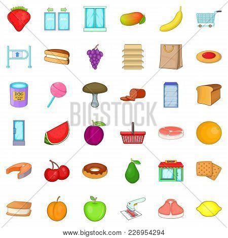 Environmentally Friendly Icons Set. Cartoon Set Of 36 Environmentally Friendly Vector Icons For Web