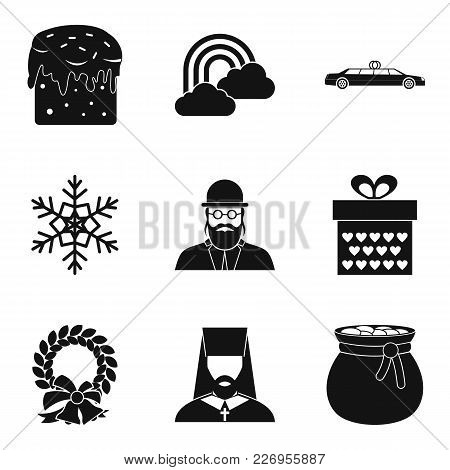 Religious Symbolism Icons Set. Simple Set Of 9 Religious Symbolism Vector Icons For Web Isolated On