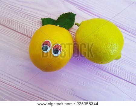 lemon orange cartoon eyes wooden cartoon, health, food, juicy, fun, diet