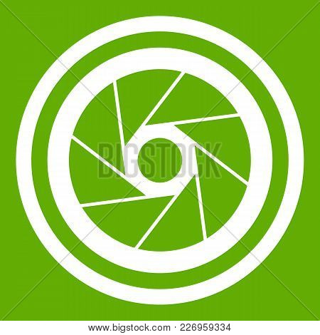 Big Objective Icon White Isolated On Green Background. Vector Illustration