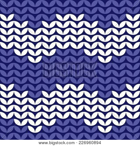 Tile Zig Zag Knitting Vector Pattern Or Winter Background