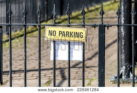 No Parking Yellow