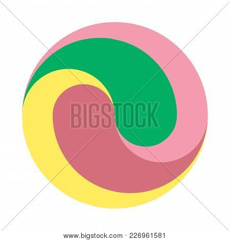 Design Round Vector Logo Template.colorful Ball Pattern. You Can Use In The Game, Electronics, Or Cr