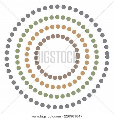 Abstract Background With Colorful Circles Hypnosis. Vector.