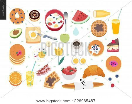 Love, Spring, Breakfast - Set Of Breakfast Meal