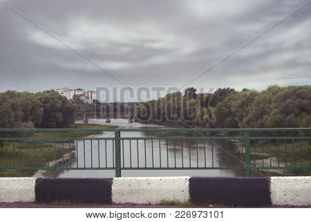 View Of The Bridges Over The River Hoper In The City Of Balashov.