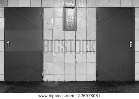 Wich Door To Choose In Black And White