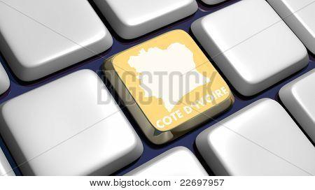 Tastatur (Detail) mit Cote d ' Ivoire Schlüssel