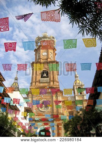 Church Of Our Lady Of Guadalupe In Puerto Vallarta Mexico