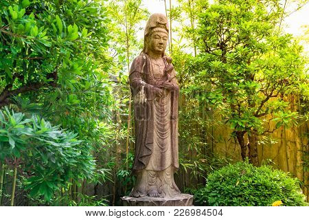 Goddess Of Mercy Known As Quan Yin Or Guan Yin Or Guan Yim In National Park At Tokyo,japan 16 Decemb