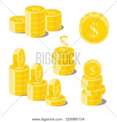 Dollar Coin Heaps. Exceeding Income Goals, Calculating High Income And A Large Capital Base. Busines