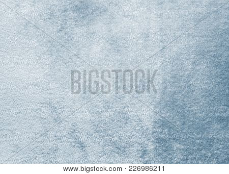 Blue Velvet Background Or Velour Flannel Texture Made Of Cotton Or Wool With Soft Fluffy Velvety Fab