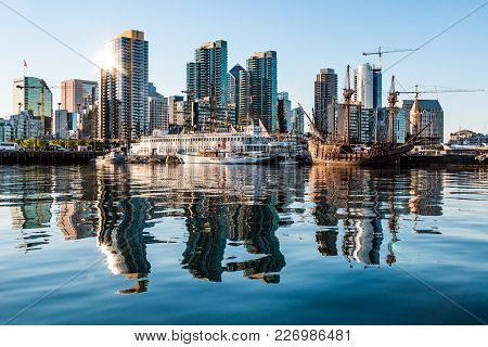 San Diego, California - April 30, 2017:  The Maritime Museum Of San Diego And The Downtown City Skyl