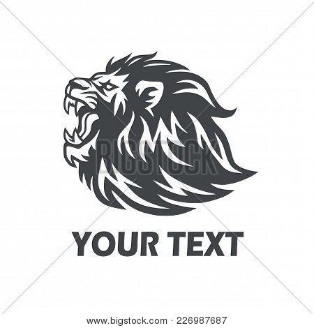 Roaring Lion Vector Icon Logo Template Design