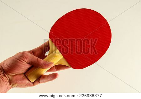 Close-up Of Ping Pong Racket Object On A White Background
