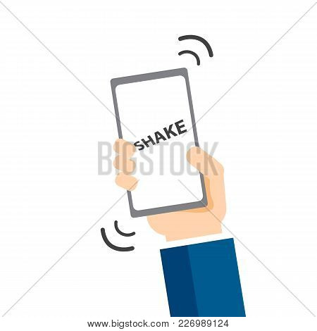 Smartphone Shake. Shake Mode, Functions Of Mobile Phone