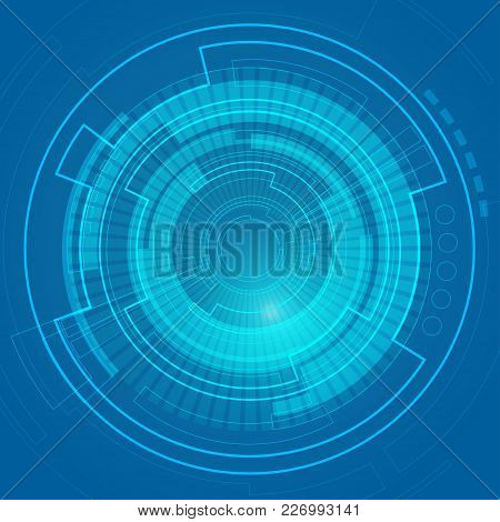 Abstract Digital Technology, Graphic Of Futuristic Background