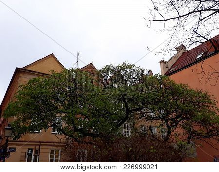Poznan, Poland - December 02, 2017: Architecture In The Old Town