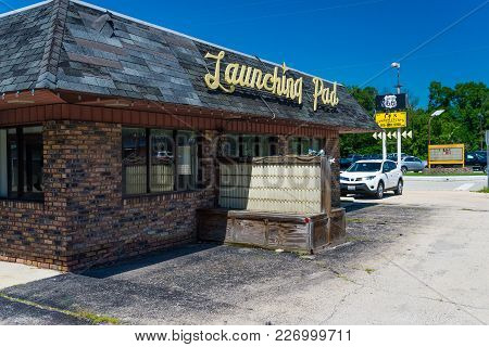 Wilmington, Il - July 13, 2014: Launching Pad Diner.