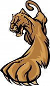 Graphic Mascot Image of a Prowling Cougar Body poster