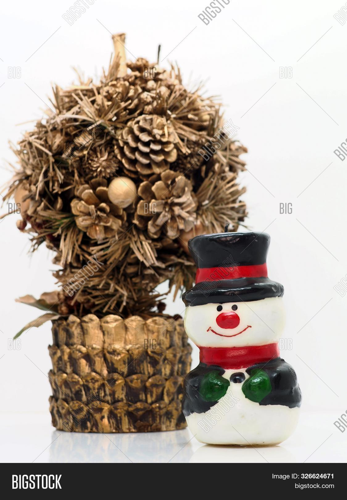 Small Snowman Golden Image Photo Free Trial Bigstock